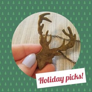 Forever 21 Deer or stag necklace, holiday gift!
